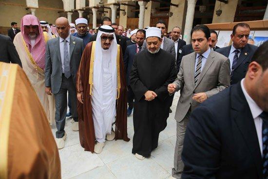 زيارة الملك لجامع الازهر13
