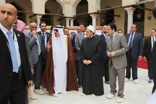زيارة الملك لجامع الازهر14