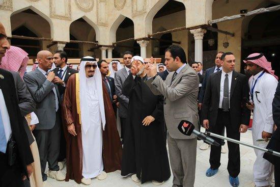 زيارة الملك لجامع الازهر15