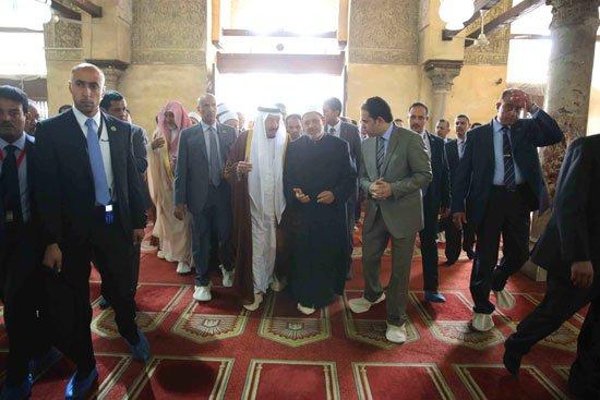 زيارة الملك لجامع الازهر16