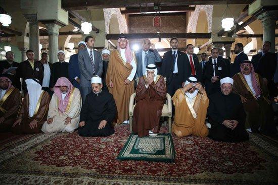 زيارة الملك لجامع الازهر2