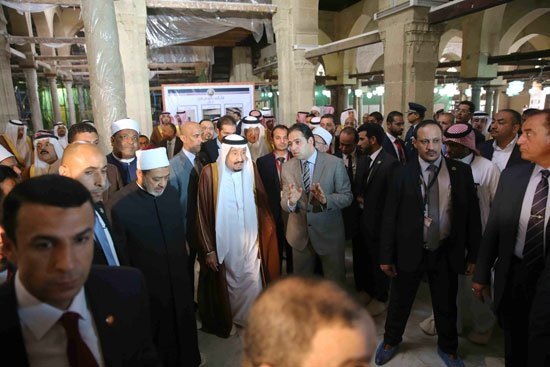 زيارة الملك لجامع الازهر22