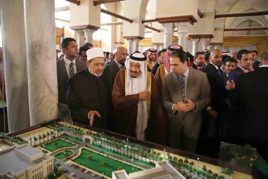 زيارة الملك لجامع الازهر3