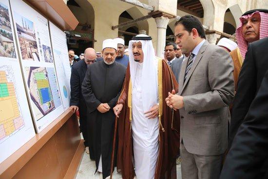 زيارة الملك لجامع الازهر4