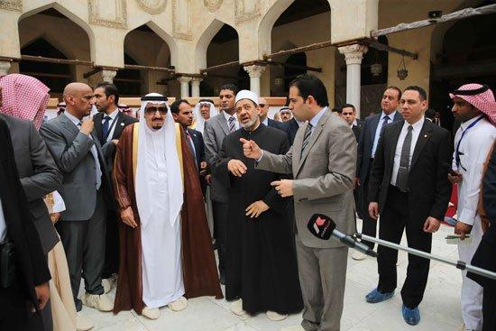 زيارة الملك لجامع الازهر5