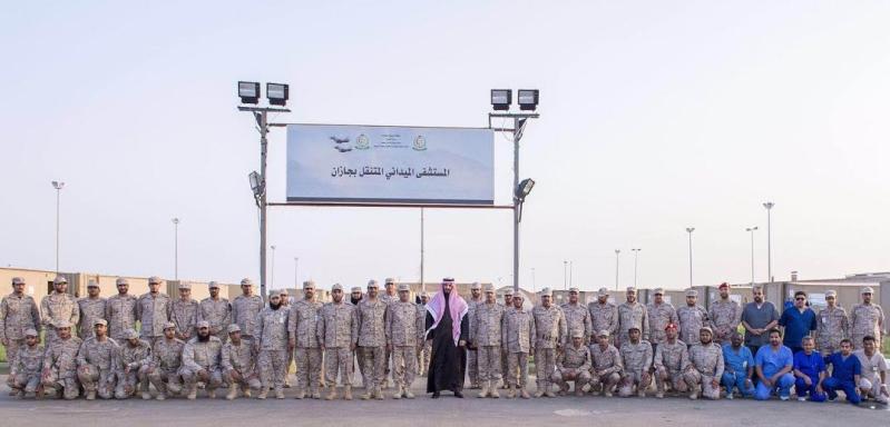 زيارة سمو ولي ولي العهد للمستشفى الميداني للقوات المسلحة بقطاع جازان1