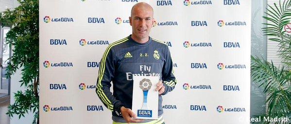 زيدان أفضل مدرب في الدوري الاسباني