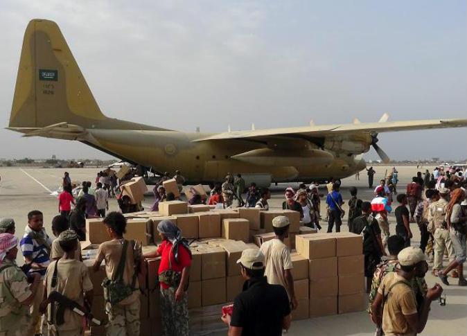 سادس طائرة إغاثية سعودية تحمل 11 طناً تحُط رحالها في عدن