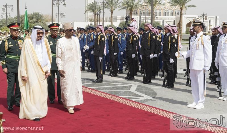 ستقبال خادم الحرمين الشريفين لرئيس جمهورية غينيا3