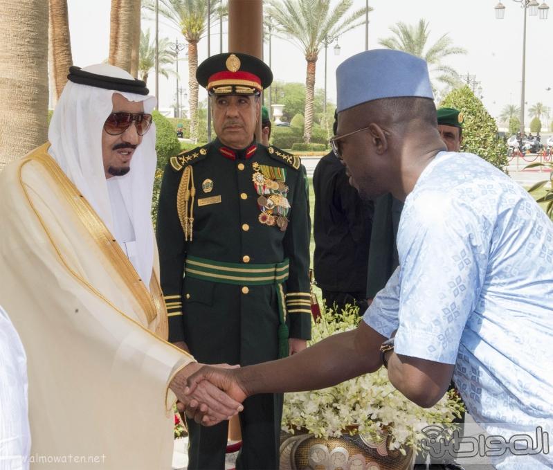 ستقبال خادم الحرمين الشريفين لرئيس جمهورية غينيا7