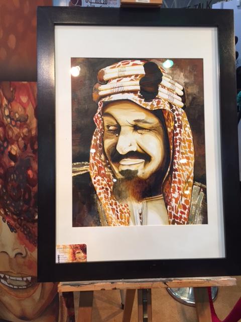 سعودية تُبدع في رسم #خادم_الحرمين بـ الزعفران (1)