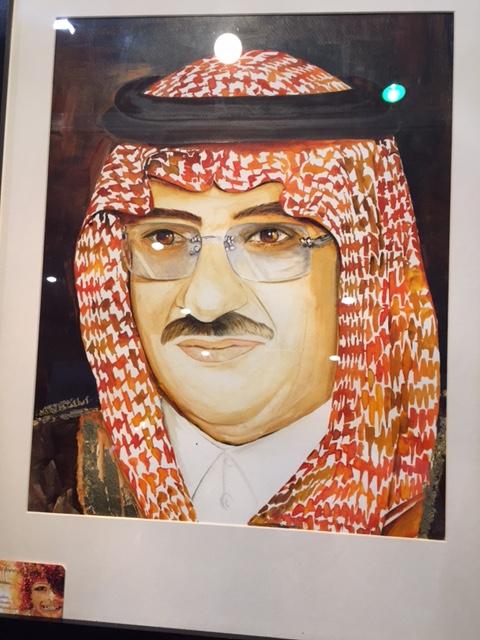سعودية تُبدع في رسم #خادم_الحرمين بـ الزعفران (5)