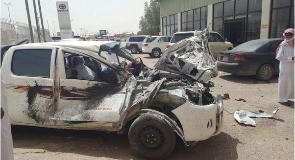 سعودي أصيب بنوبة صرع فاقتحم وكالة سيارات (2)