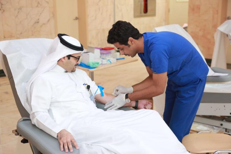 سعود الطبية تُعايد مرضاها بحملة للتبرُع بالدم1