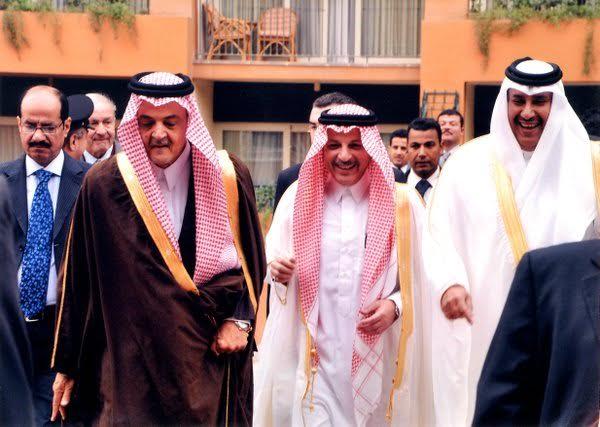 سعود الفيصل - أحمد القطان سفير المملكة في مصر