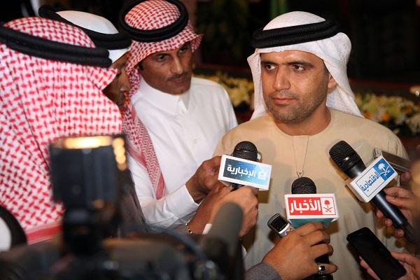 سعيد الكعبي ممثل دولة الامارات العربية المتحدة ضيف مهرجان الجنادرية