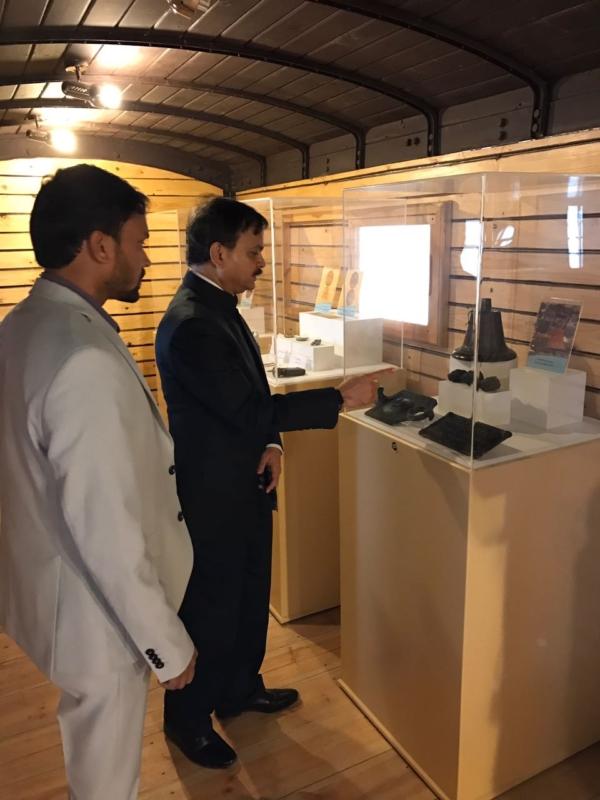 سفير الهند يزور قلعة تبوك (1)