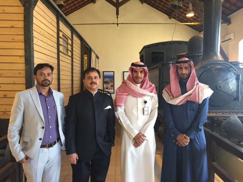 سفير الهند يزور قلعة تبوك (2)