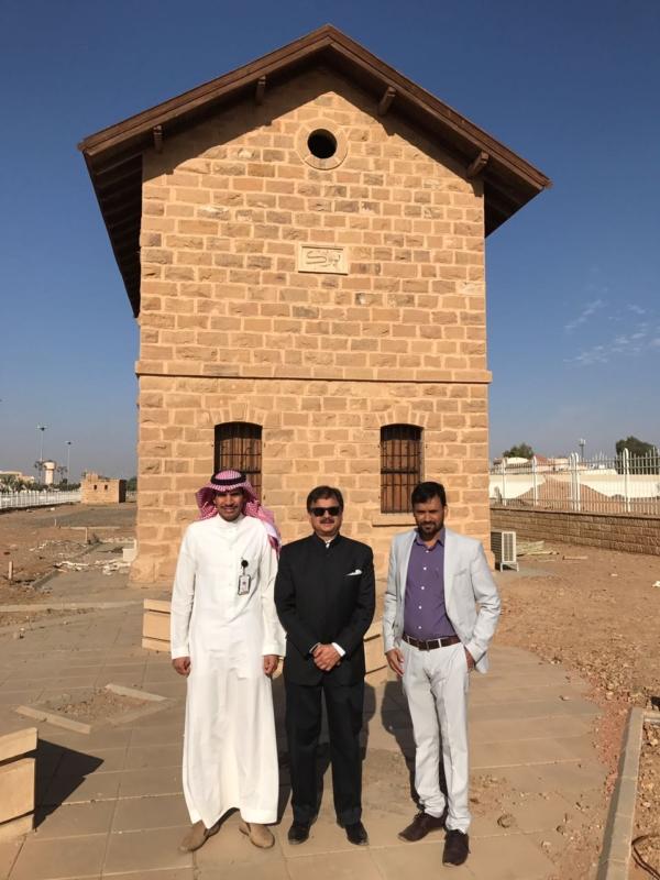 سفير الهند يزور قلعة تبوك (5)