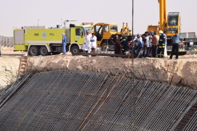 سقوط خزان ارضي يتسبب بوفاة وإصابات في عنيزة1