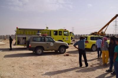 سقوط خزان ارضي يتسبب بوفاة وإصابات في عنيزة3