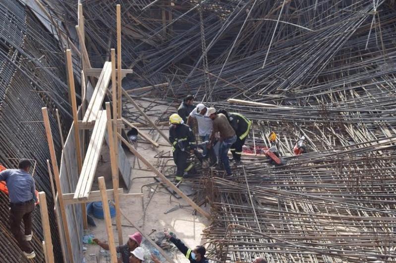 سقوط خزان ارضي يتسبب بوفاة وإصابات في عنيزة5