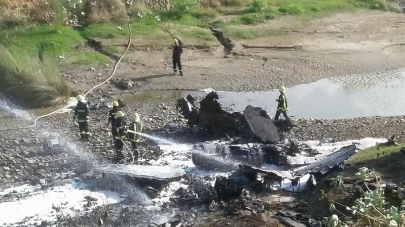 سقوط-طائرة-بحرينية-تابعة-لقوات-التحالف (8)