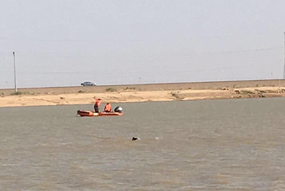 سقوط طائرة شراعية بمستنقع مائي بالمدينة (9)