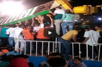 سقوط لعبة في الملاهي بركابها في القاهرة