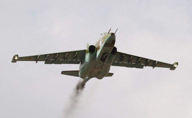 سقوط مقاتلة روسية