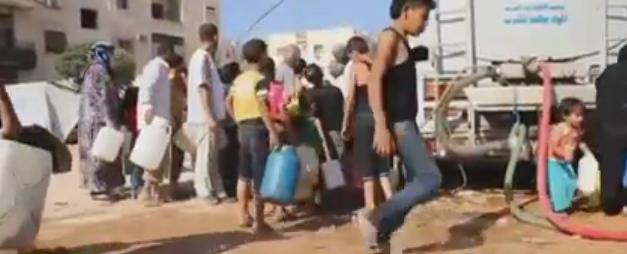 سكان-حلب-ينتظرون-الماء