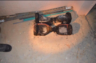 """بالصور.. """"سكوتر ذكي"""" وراء حريق شقة بـ #رفحاء - المواطن"""