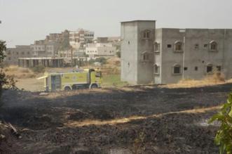 سلك ضَغْط عالي يتسبب في حريق أراضي زراعية بجماجم الباحة - المواطن