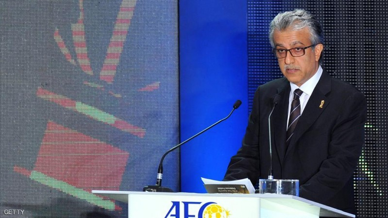 Shaikh Salman Bin Ebrahim Al Khalifa, President of the Asian Football Confederation (AFC) delivers his keynote address at the AFC Player of the Year ceremony at a hotel in Kuala Lumpur on November 26, 2013. AFP PHOTO / MOHD RASFAN        (Photo credit should read MOHD RASFAN/AFP/Getty Images)
