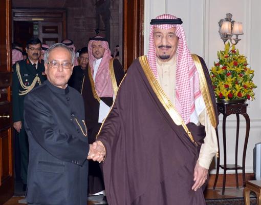 سلمان بن عبدالعزيز - الرئيس براناب موكرجي