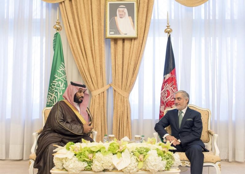 ولي ولي العهد يبحث عددا من الموضوعات المشتركة مع رئيس أفغانستان