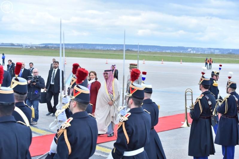 سمو ولي العهد يصل إلى جمهورية فرنسا في زيارة رسمية 4