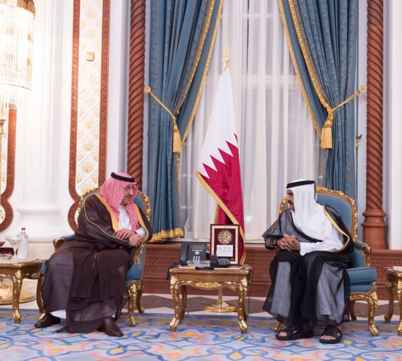 سمو ولي العهد يصل الى الدوحة لتقديم واجب العزاء (35914243) 