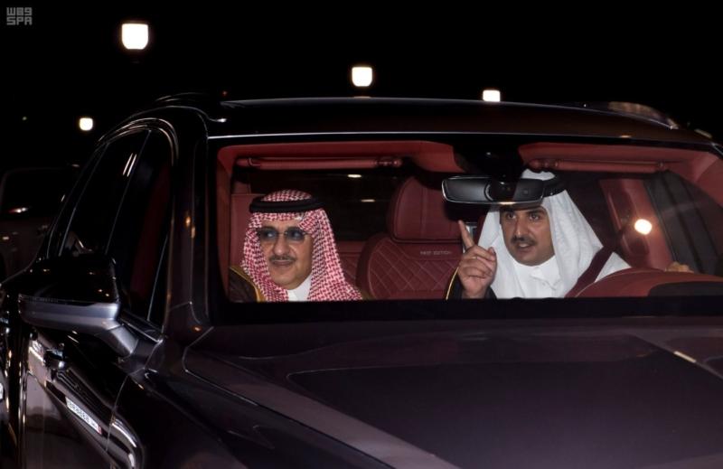سمو ولي العهد يغادر الدوحة بعد تقديمة واجب العزاء