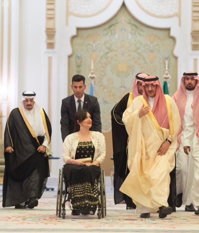 سمو ولي العهد يقيم مأدبة عشاء تكريماً لنائبة رئيس الأرجنتين 7