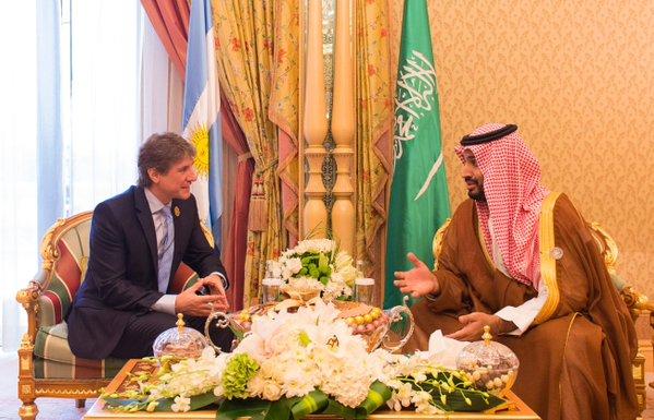 سمو ولي ولي العهد يلتقي أمير دولة قطر ورئيس دولة فلسطين ونائب رئيسة الأرجنتين.