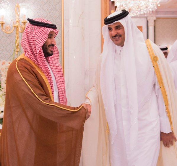 سمو ولي ولي العهد يلتقي أمير دولة قطر ورئيس دولة فلسطين ونائب رئيسة الأرجنتين.2