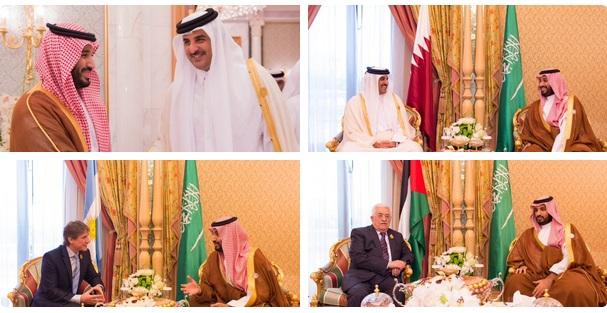 سمو ولي ولي العهد يلتقي أمير دولة قطر ورئيس دولة فلسطين ونائب رئيسة الأرجنتين8