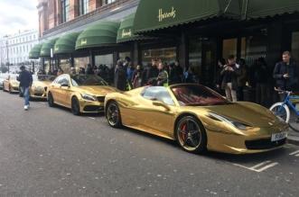 شاهد.. سيارات ذهبية فاخرة في شوارع لندن - المواطن