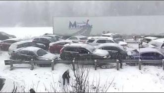 شاهد.. عاصفة ثلجية تسبب تصادم 50 سيارة بكندا - المواطن