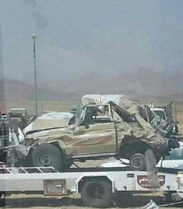 سيارة الشبان بعد الحادث