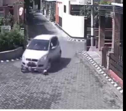 سيارة تدهس طفل