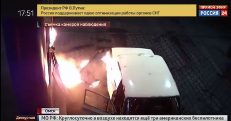 سيارة محترقة