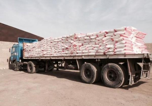 شاحنات محملة ب23 ألف كيس (2)