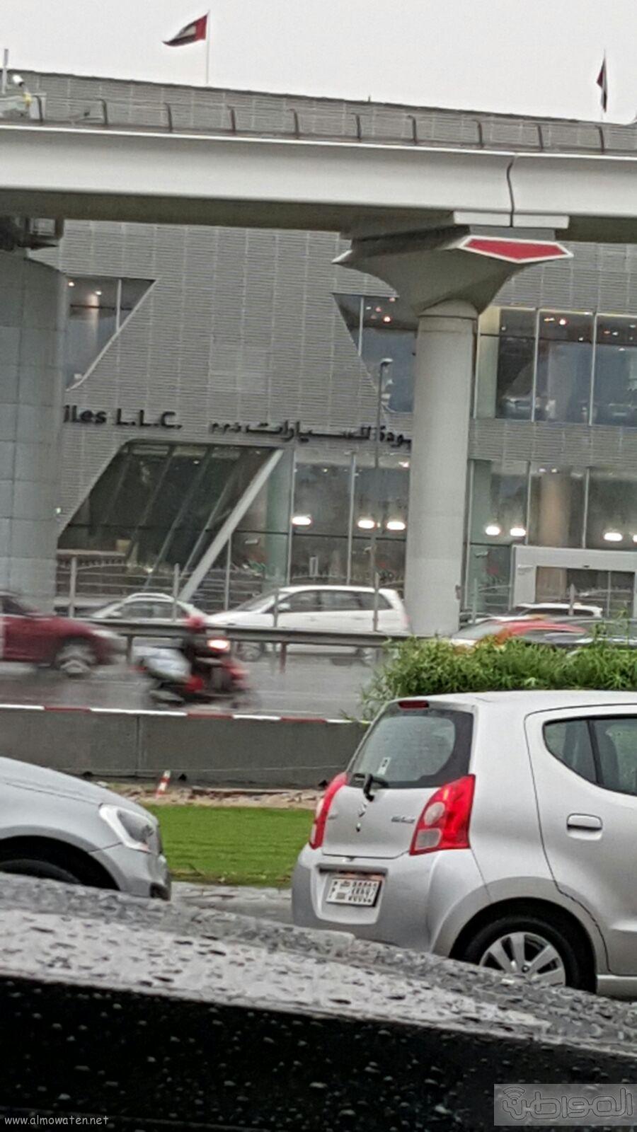 شاهد بالصور..  المواطن ترصد أمطار دبي (2)